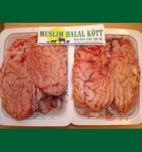 Kalv Hjärna vaccum  (Fryst)