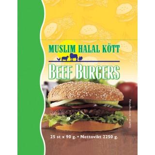 5002-25 Beef Burgers Muslim 3x25x90g Fryst