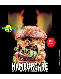 Beef Hamburgare 150g (98%Nöt) Muslim