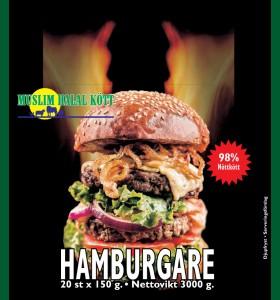 150g Beef burger 2 x 20 x 150g=6kg  (Fryst)