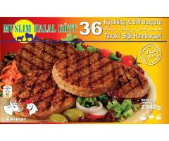Kyckling&beefburgare 36st