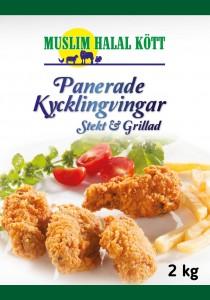 Panerade Kycklingvingar (Stekt&Grillad) 10kg 5x2 (Fryst)