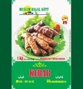 Kebab Muslim 5 x 1kg  (Fryst)
