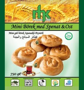 Mini Börek med Spenat & Ost 8 x 750g Fryst