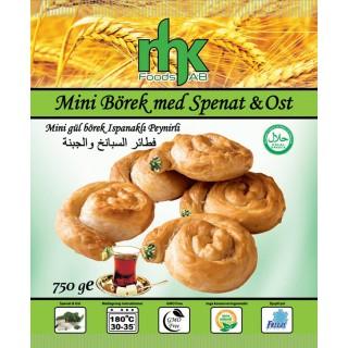 Mini Börek med Spenat&Ost Råvara Mhk 8x750g Fryst