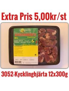 3052-Kycklinghjärta Muslim 3,6kg12x300g DK Fryst