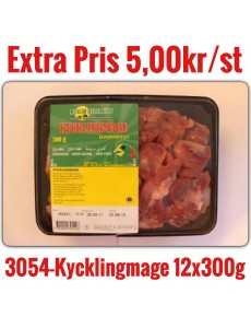 3054-Kycklingmage Muslim 3,6kg 12x300g DK Fryst