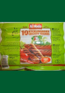 32 Kycklingkorv  AL-Huda 32 x 340g  (Fryst)