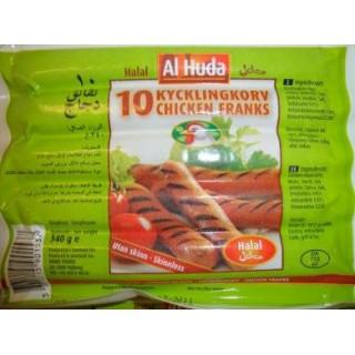 5023-Kycklingkorv 32x340g AL-Huda Fryst