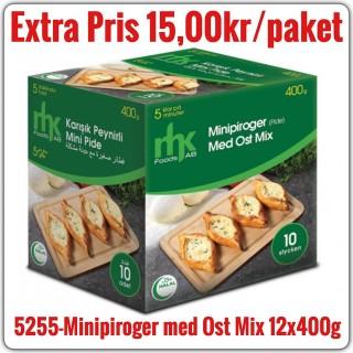 5255-Minipiroger(Mini Pide) med Ost Mix12x400g Fryst