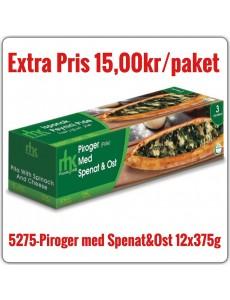5275-Piroger(Pide) med Spenat&Ost 12x375g Fryst