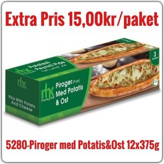 5280-Piroger (Pide) med Potatis&Ost 12x375g (3x125g) Fryst