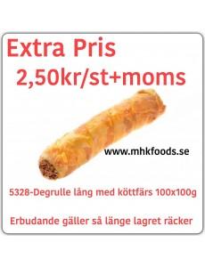 5328-Degrullar lång med Köttfärsfyllning100x100g Fryst