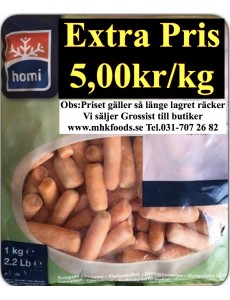 Babymorötter Homi 10x1kg Fryst