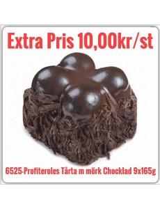6525-Profiteroles Tårta m. Mörk Chocklad 6x1485g Fryst