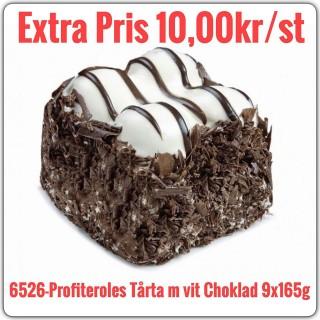 6526-Profiteroles Tårta Vit Chocklad 6x1485g (9x165g)Fryst