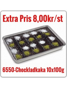 6550-Chokladkaka 10x1kg (10x100g) TR Fryst