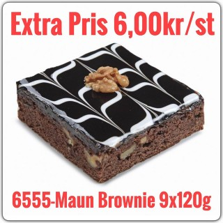 6555-Maun Brownie 9x1,080g (9x120g)TR Fryst