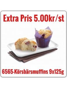 6565-Körsbärsmuffins 6x1,125g (9x125g)TR Fryst