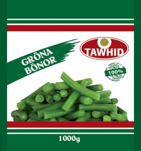 Gröna Bönor (Fasolya) 10x1000g  (Fryst)