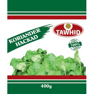Koriander Hackad Tawhid 20x400g Fryst