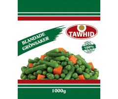 Blandade grönsaker 1kg Tawhid